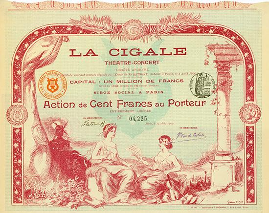 La Cigale Theatre-Concert S.A.