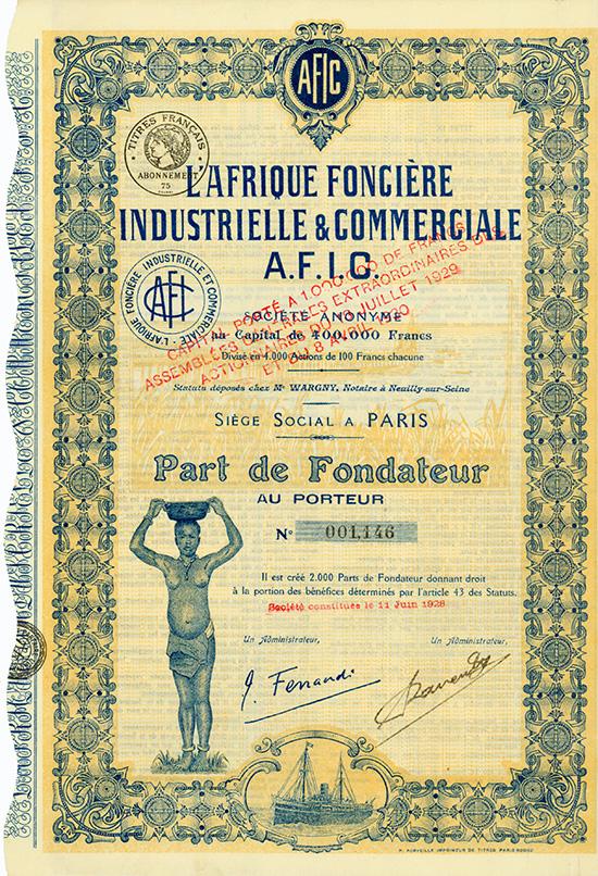 L'Afrique Fonciere Industrielle & Commerciale A.F.I.C.