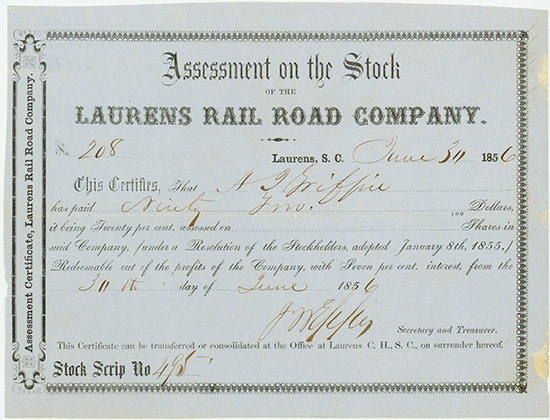 Laurens Rail Road Company