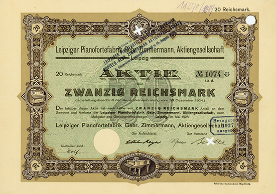 Leipziger pianofortefabrik gebr zimmermann ag for Zimmermann verbindung
