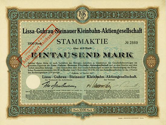 Lissa-Guhrau-Steinauer Kleinbahn-AG