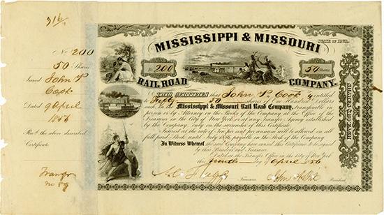 Mississippi & Missouri Rail Road Company