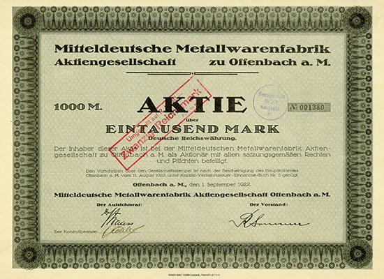 Mitteldeutsche Metallwarenfabrik AG