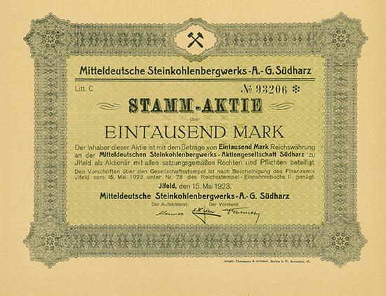 Mitteldeutsche Steinkohlenbergwerks-AG Südharz