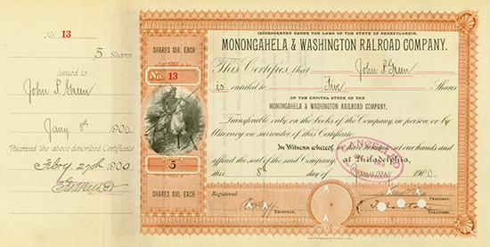 Monongahela & Washington Railroad Company