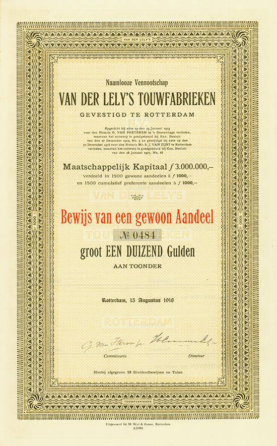 N.V. Van Der Lely's Touwfabrieken