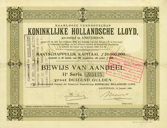 Naamlooze Vennootschap Koninklijke Hollandsche Lloyd
