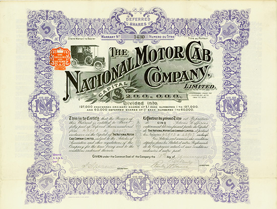 National Motor Cab Company, Limited