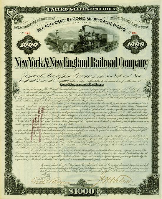 New York & New England Railroad Company