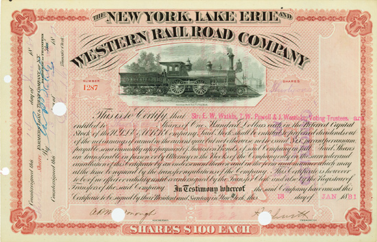New York, Lake Erie and Western Railroad Company