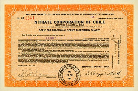 Nitrate Corporation of Chile / Compania de Salitre de Chile
