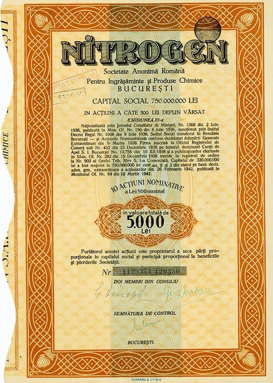 NITROGEN S.A.R. Pentru Produse Chimice, Metalurgice si Ingrasaminte Agricole [2 Stück]