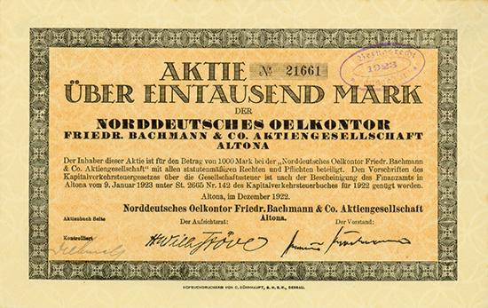 Norddeutsches Oelkontor Friedr. Bachmann & Co. AG