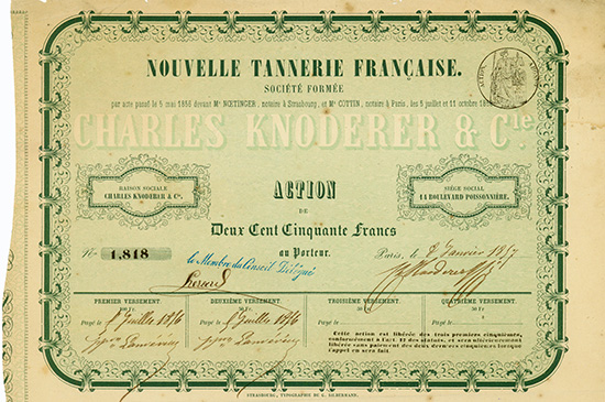 Nouvelle Tannerie Francaise Societe Formee - Charles Knoderer & Cie.
