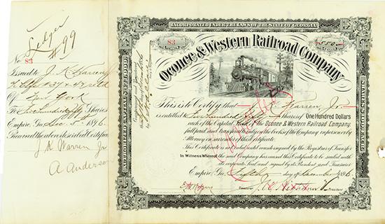 Oconee & Western Railroad Company