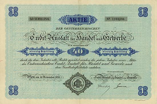Oesterreichische Credit-Anstalt für Handel und Gewerbe