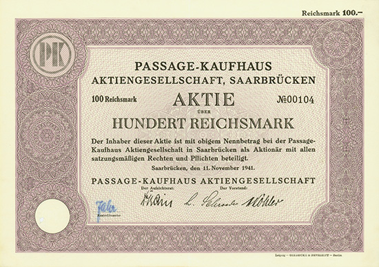 Passage-Kaufhaus AG