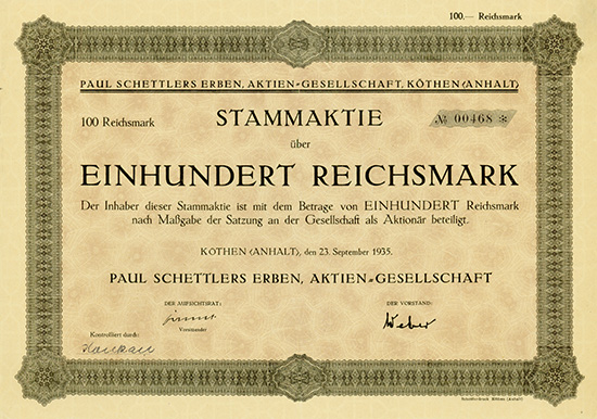 Paul Schettlers Erben AG
