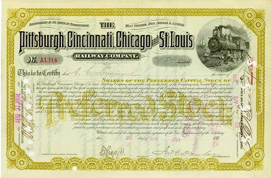 Pittsburgh, Cincinnati, Chicago and St. Louis Railway Company
