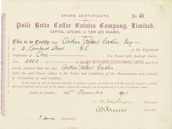 Polli Betta Coffee Estates Company, Limited