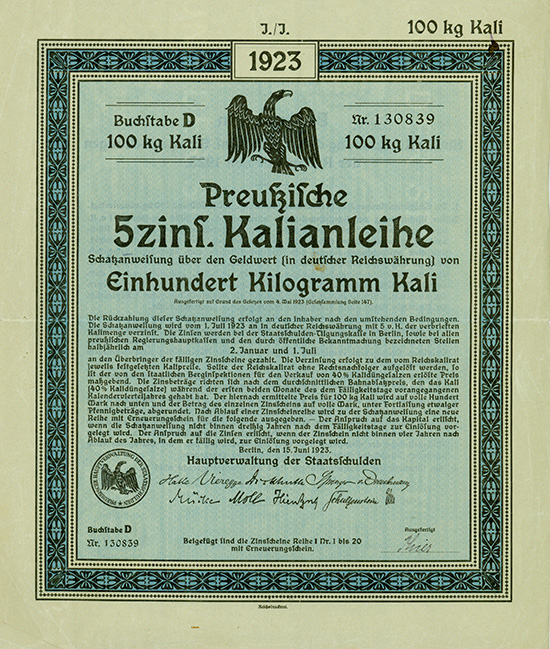 Preußische 5% Kalianleihe