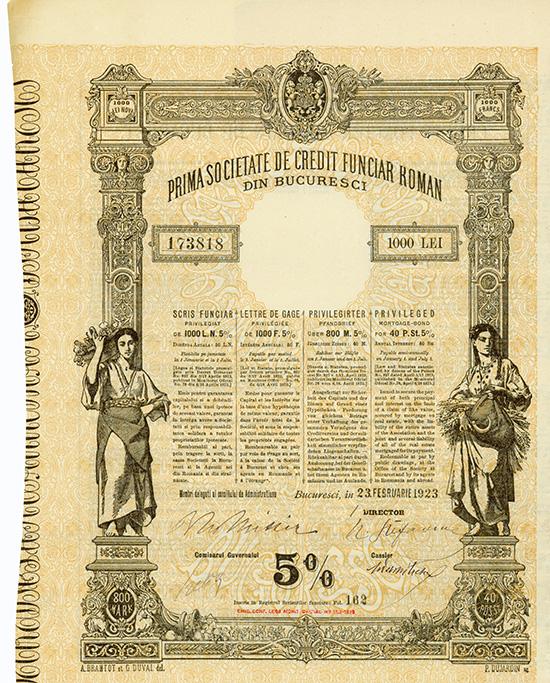 Prima Societate de Credit Funciar Roman din Bucuresti