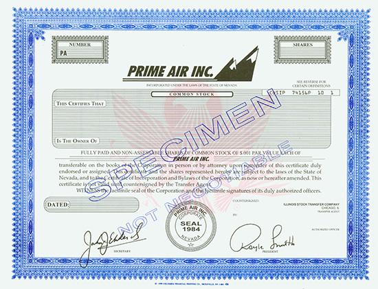 Prime Air Inc.