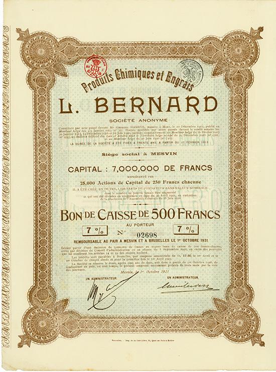 Produits Chimiques et Engrais L. Bernard S.A.
