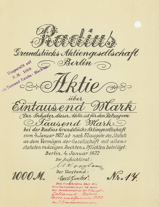 Radius Grundstücks-AG