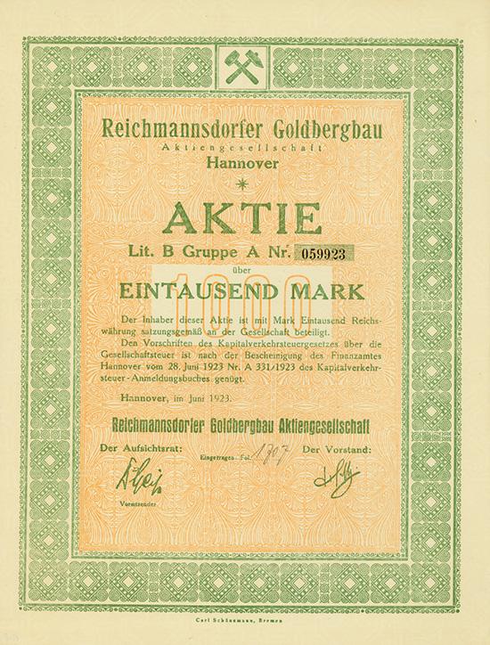 Reichmannsdorfer Goldbergbau AG