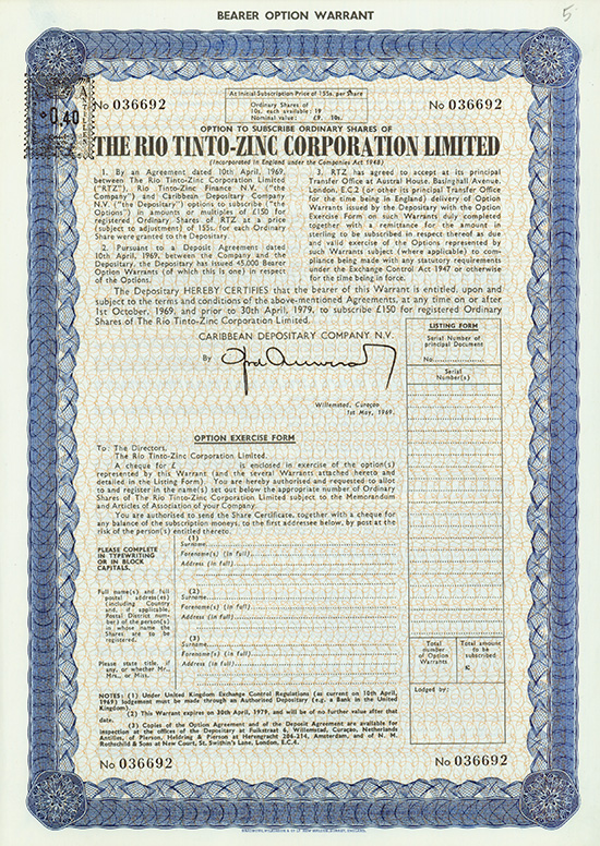 Rio Tinto-Zinc Corporation Limited