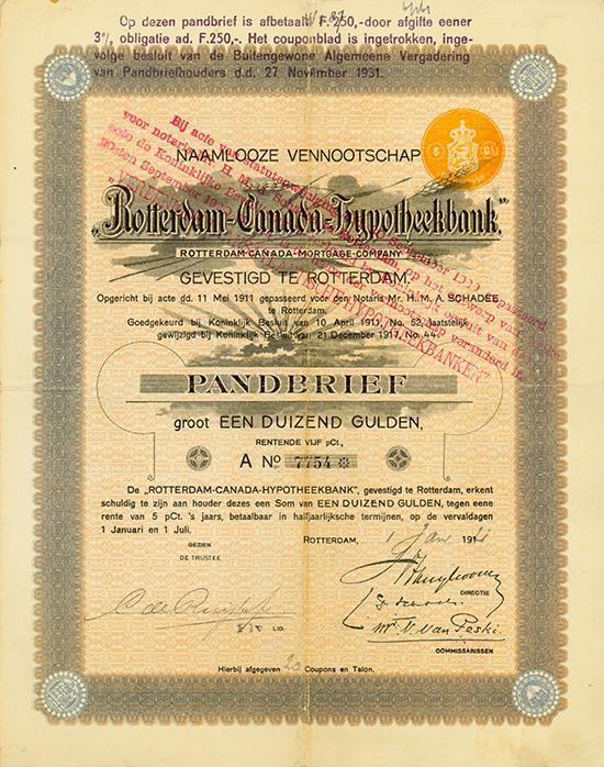 Rotterdam-Canada Hypotheekbank N.V. / Rotterdam-Canada Mortgage Company