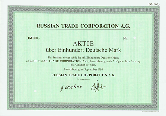 Russian Trade Corporation A.G.