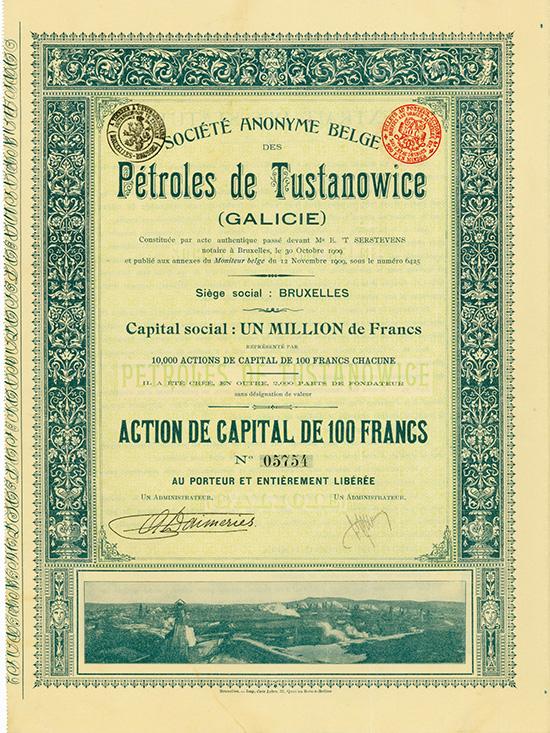 S.A. Belge des Petroles de Tustanowice (Galicie)