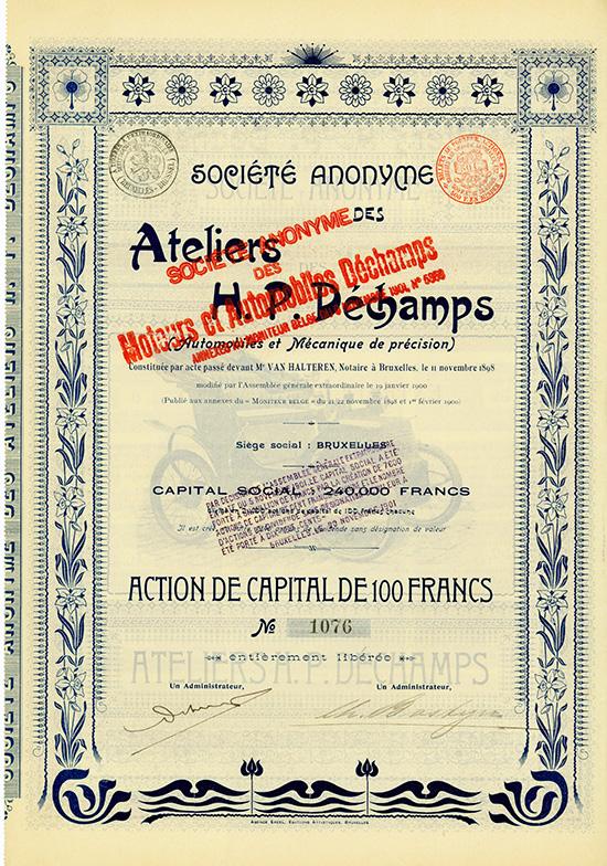 S.A. des Ateliers H. P. Dechamps (Automobiles et Mecanique de precision)