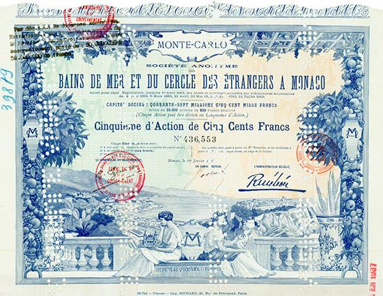 S.A. des Bains de Mer et du Cercle des Etrangers a Monaco