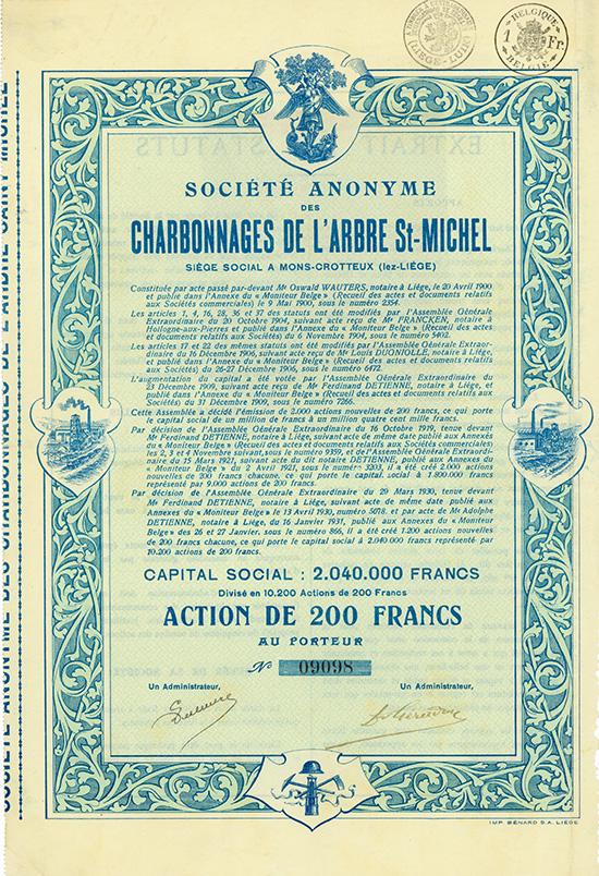 S.A. des Charbonnages de l'Arbre St-Michel