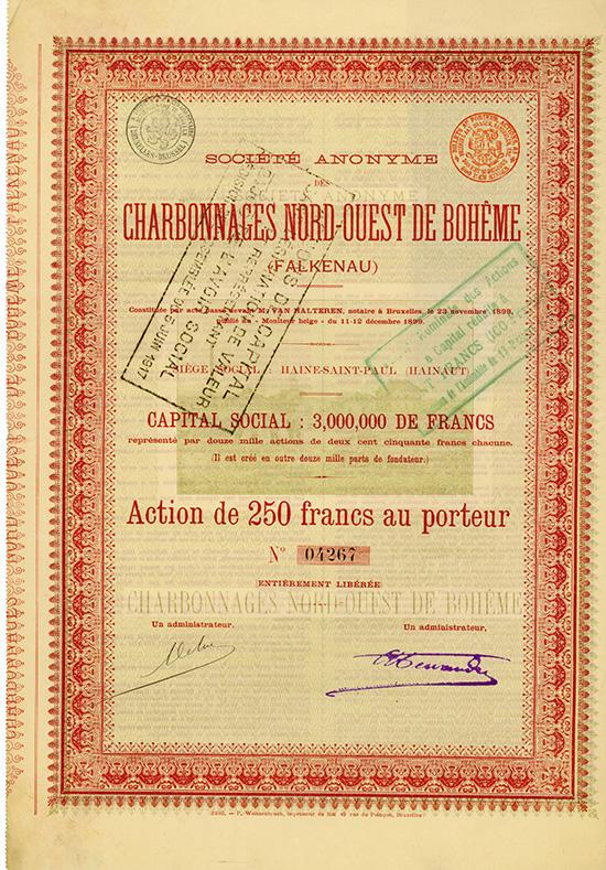 S.A. des Charbonnages Nord-Ouest de Boheme (Falkenau)