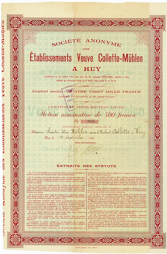 S.A. des Etablissements Veuve Collette-Mühlen