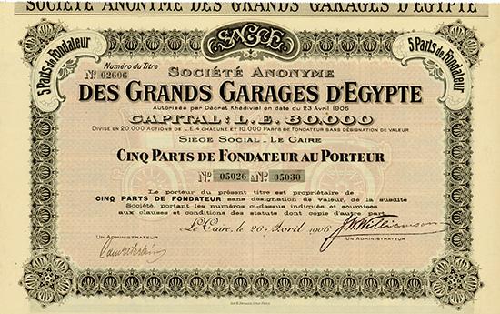 S.A. des Grands Garages d'Egypte