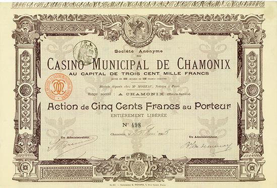 S.A. du Casino Municipal de Chamonix