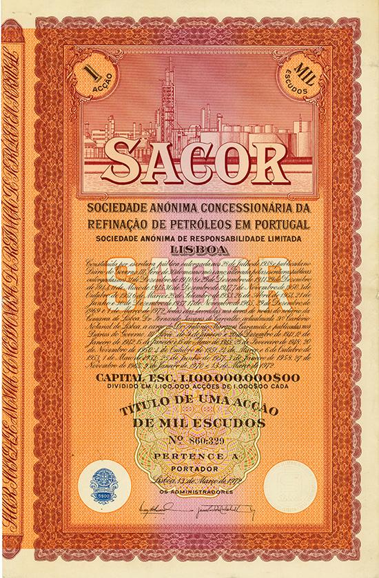 SACOR S.A. Concessionaria da Refinacao de Petroleos em Portugal