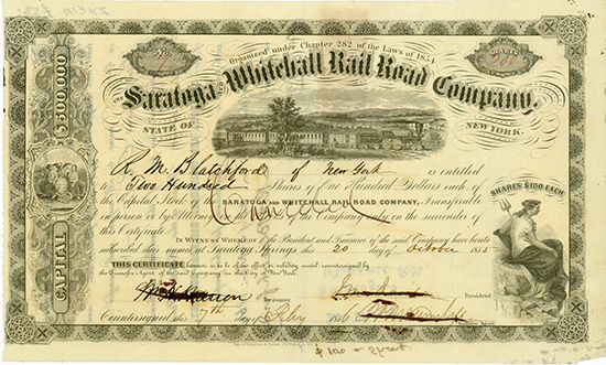 Saratoga and Whitehall Rail Road Company