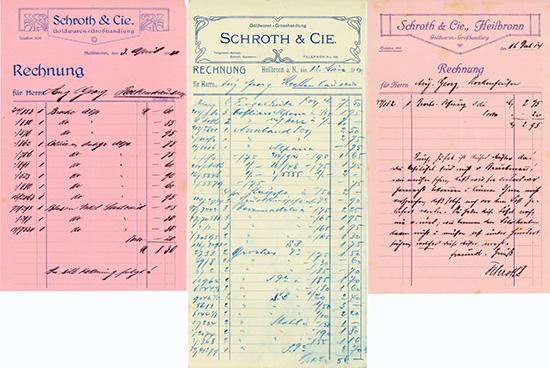 Schroth & Cie., Goldwaren-Großhandlung [3 Stück]