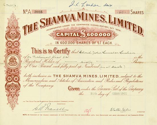 Shamva Mines, Limited