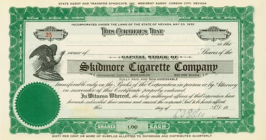 Skidmore Cigarette Company