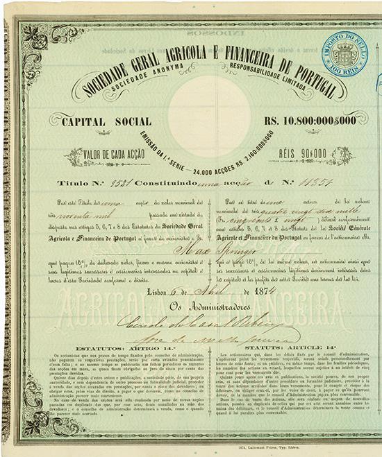 Sociedade Geral Agricola e Financeira de Portugal S.A.