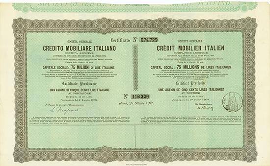 Societa Generale di Credito Mobiliare Italiano / Societe Generale de Credit Mobilier Italien
