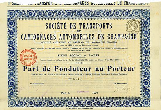 Societe de Transports et Camionnages Automobiles de Champagne
