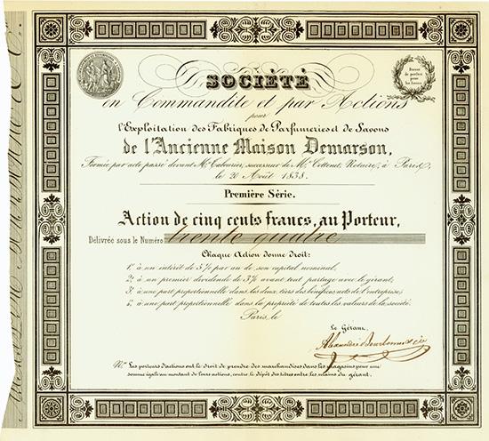 Societe en Commandite et par Actions pour l'Exploitation des Fabriques de Parfumeries et de Savons de l'Ancienne Maison Demarson